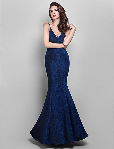 TS Couture Prom / Formal Evening / Military Ball Dress - Elegant / Vintage  Inspired Plus Size / Petite Trumpet / Mermaid V-neck Floor-length Jersey