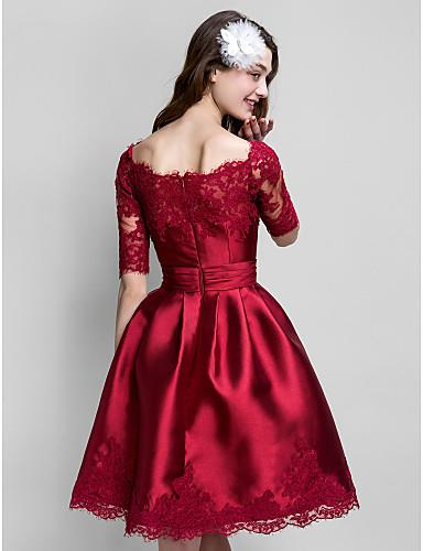 44177386b73 TS Couture Prom Cocktail Party Dress Plus Size   Petite Ball Gown Bateau  Knee-length